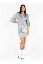 Vestido com Detalhe Frente de Jersey Foil - P