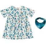 Vestido com Lenço Lilica Ripilica Baby Bege
