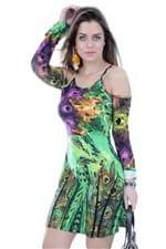 Vestido com Recortes no Ombro VE0748 - M