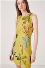 Vestido Crepe Exotique Est Localizado Floral Exotique Amarelo - 38