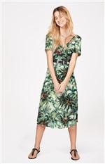 Vestido Crepe Texturizado Enfim Verde - M