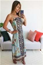 Vestido Cropped Farm Tepih - Azul