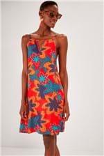 Vestido Curto Cantão Alças Est. Guaraná Amm - Multicolorido