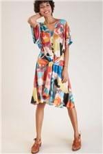 Vestido Curto Cantão Estampa Ternura - Multicolorido