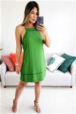 Vestido Curto Colcci Decote Alto Shock Green - Verde