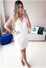 Vestido Curto Colcci Decote V Comfort Shell - Off White