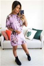 Vestido Curto Colcci Estampado Grape Detalhe Retilinea - Lilás