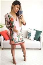 Vestido Curto Colcci Estampado Lobelia - Rosa