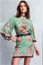 Vestido Curto Colcci Estampado See You - Verde