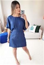 Vestido Curto Colcci Jeans com Cinto - Azul
