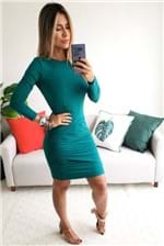 Vestido Curto Colcci Mangas Transpassado - Verde