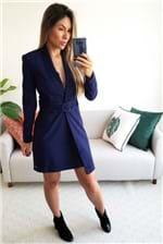 Vestido Curto Colcci Slim com Cinto - Azul