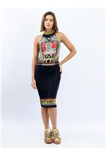 Vestido Curto de Tule com Silk Caos Visionary e Tr 40