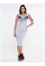 Vestido Curto de Tule com Silk Possibilities Infin - 40