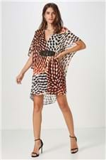 Vestido Curto Decote Corda Chama Coral Pimenta - 40