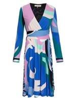 Vestido Curto Estampado Azul Tamanho 42