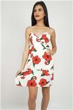 Vestido Curto Floral Hibisco Farm - P