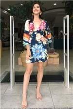 Vestido Curto Floral Nalu Farm -p