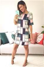 Vestido Curto Lança Perfume Descolado Serena - Multicolorido