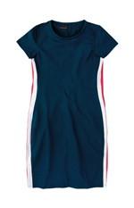 Vestido Curto Recortes Laterais Enfim Azul Escuro - G