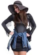 Vestido de Cirre com Franjas VE1099 - P
