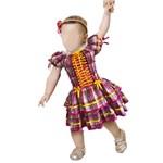 Vestido de Festa Junina Caipira para Bebê Pink