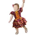 Vestido de Festa Junina Caipira para Bebê Vermelho