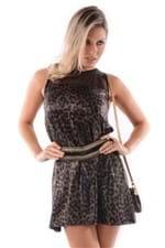 Vestido de Lycra com Tule VE0510 - M