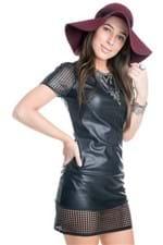 Vestido de Malha Sintética Vazado BL1544 - P