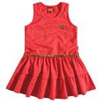 Vestido de Menina com Cinto Corações Vermelho - Kyly 1