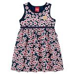 Vestido de Menina Flor Primavera Preto - Kyly 1