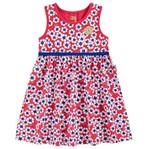 Vestido de Menina Flor Primavera Vermelha - Kyly 1