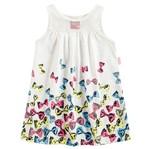 Vestido de Menina Lacinhos Fashion Branco - Kyly P