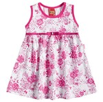 Vestido de Menina Pequena Donzela Rosa - Kyly P
