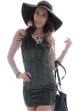 Vestido de Plush com Tule VE0247 - P