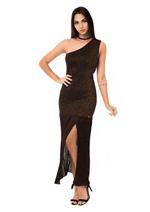 Vestido de Tricot com Fenda Lateral