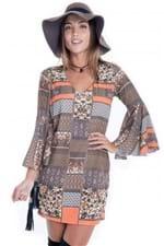 Vestido de Viscose com Manga Flare VE1377 - P