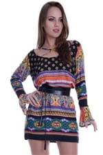 Vestido de Viscose com Tiras no Decote VE1342 - M