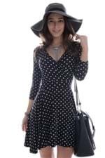 Vestido Decotado Poá VE0809 - P