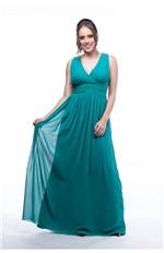 Vestido Drapeado Transpassado-verde - P