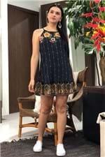 Vestido Elisa Barrado Farm - M