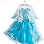 Vestido Elsa Rainha da Neve Frozen Azul Claro