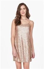 Vestido em Paetês Enfim Dourado - PP