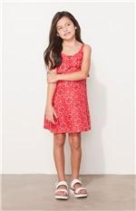 Vestido Estampado Infantil Malwee Super Mães Vermelho - 1