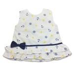 Vestido Estampado para Bebê Menina Navy Retrô