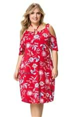 Vestido Estampado Recorte Wee! Vermelho - GG