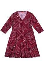 Vestido Estampado Transpasse Vermelho - G