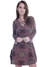 Vestido Étnico com Decote Strappy VE1445 - G
