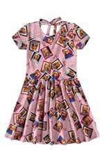 Vestido Evasê Barbie® Decote Costas Menina Malwee Kids Rosa Claro - 8