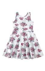 Vestido Evasê Cotton Menina Malwee Kids Branco - 8